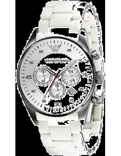 Chic Time | Montre Homme Emporio Armani Tazio AR5859 Bracelet En Silicone Blanc  | Prix : 179,50€