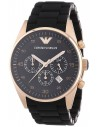 Chic Time | Montre Homme Emporio Armani AR5905 Chronomètre Sport Noir  | Prix : 199,50€