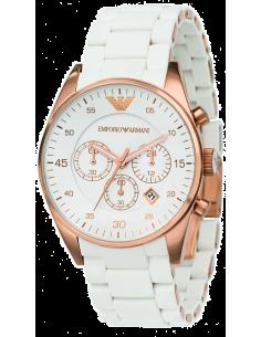 Chic Time | Montre Homme Emporio Armani Sportivo AR5919 Bracelet silicone blanc  | Prix : 149,50€