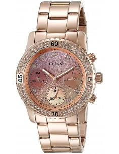 Chic Time | Montre Femme Guess Sporty U0774L3 Or Rose  | Prix : 379,00 €