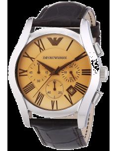 Chic Time | Montre Homme Emporio Armani Classic AR1634 bracelet en cuir brun  | Prix : 224,25€