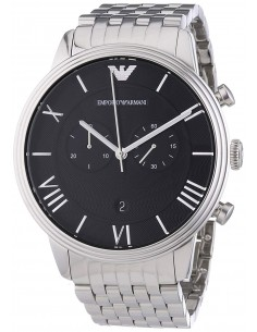 Chic Time | Montre Homme Emporio Armani Classic AR1617 bracelet en acier inoxydable  | Prix : 269,25€