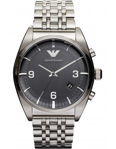 Chic Time | Montre Homme Armani New Retro AR0369 Argent  | Prix : 299,00€