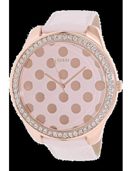 Chic Time | Montre Femme Guess W0258L3 Cadran rose à pois or rose  | Prix : 119,00€