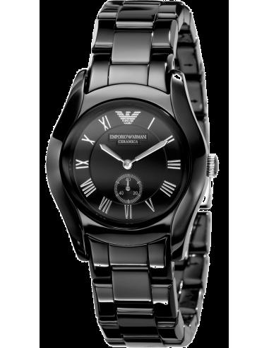 Chic Time | Montre Femme Emporio Armani Ceramica AR1402 Bracelet en céramique noire  | Prix : 169,95€