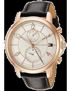 Chic Time | Montre Tommy Hilfiger 1781817 Bracelet cuir noir  | Prix : 143,20€