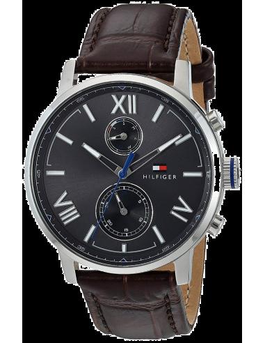 Chic Time | Montre Tommy Hilfiger Alden 1791309 Bracelet cuir marron  | Prix : 104,50€