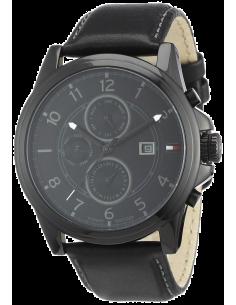 Chic Time | Montre Tommy Hilfiger 1710295 Bracelet noir en cuir  | Prix : 119,40€