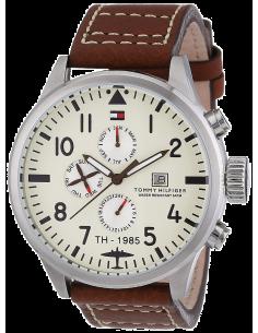 Chic Time | Montre Homme Tommy Hilfiger 1790684 modèle aviateur cadran beige  | Prix : 159,20€