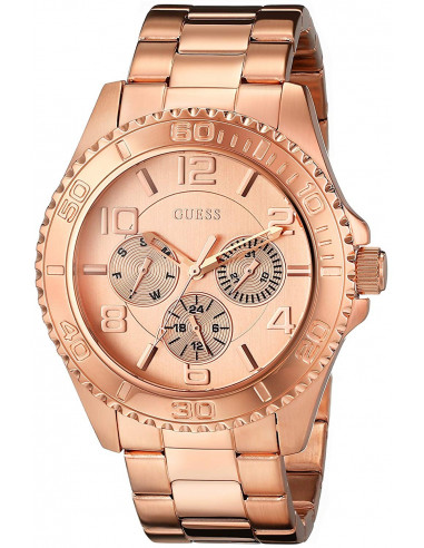 Chic Time | Montre Femme Guess W0231L4 Or Rose Multifonction  | Prix : 229,00€