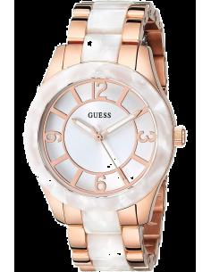 Chic Time | Montre Femme Guess Goddess W0074L2 Bracelet doré rose et blanc  | Prix : 329,98€