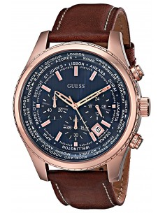 Chic Time | Montre Homme Guess Pursuit W0500G1 Chronographe à cadran bleu  | Prix : 173,40 €