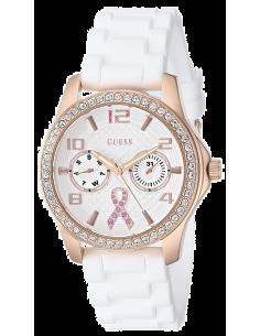 Chic Time | Montre Femme Guess W0032L3 Bracelet blanc en silicone  | Prix : 119,40€