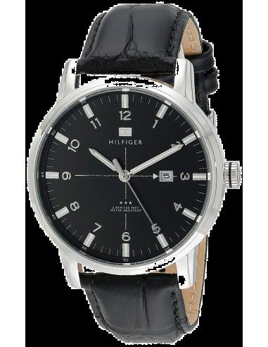 Chic Time | Montre Homme Tommy Hilfiger 1710330 Bracelet en Cuir Noir  | Prix : 169,00€