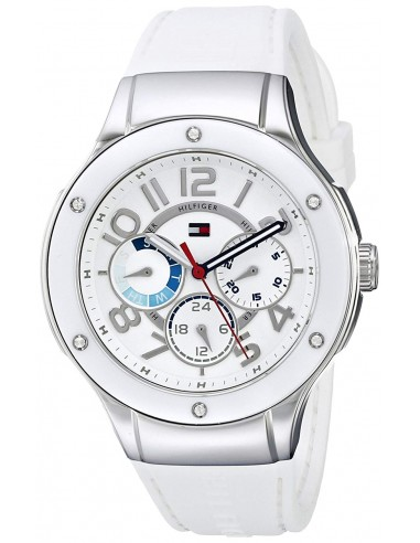 Chic Time | Montre Femme Tommy Hilfiger 1781310 Bracelet Silicone Blanc  | Prix : 199,00€