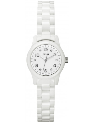 Chic Time | Montre Guess Femme Micro Mini Blanche W65022L1 Bracelet En Polycarbonate  | Prix : 129,00€