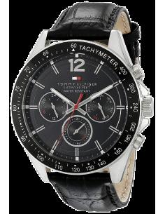 Chic Time | Montre Homme Tommy Hilfiger Sophisticated 1791117 Bracelet En Cuir Noir  | Prix : 169,00€