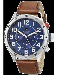 Chic Time | Montre Homme Tommy Hilfiger 1791066 Bracelet brun en cuir lisse  | Prix : 159,20€