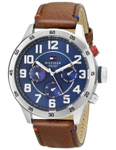 Chic Time | Montre Homme Tommy Hilfiger 1791066 Bracelet brun en cuir lisse  | Prix : 119,40€