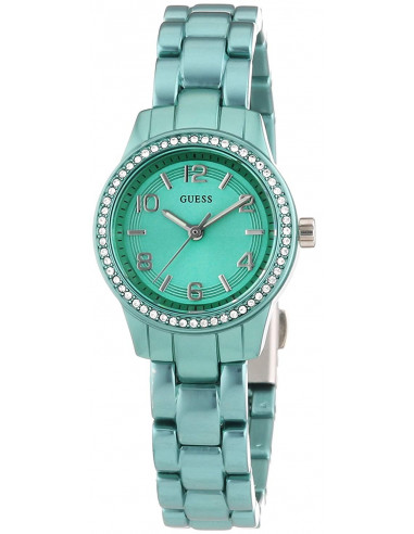 Chic Time   Montre Guess Femme Micro Mini Vert Emeraude W80074L4    Prix : 129,00€