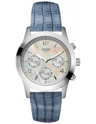 Chic Time | Montre Guess Mini Spectrum W11148L2 Cuir bleu  | Prix : 179,00 €