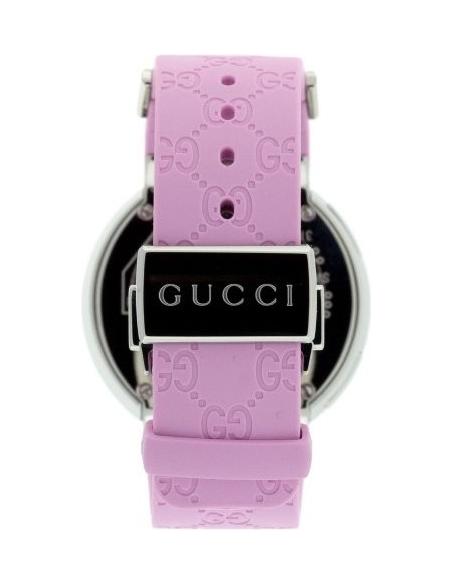 Chic Time | Montre Gucci I-Gucci Digitale YA114404 Bracelet En Gomme Rose  | Prix : 814,90€
