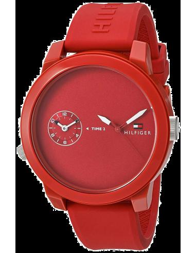 Chic Time | Montre Homme Tommy Hilfiger Denim 1791323 Rouge  | Prix : 119,25€
