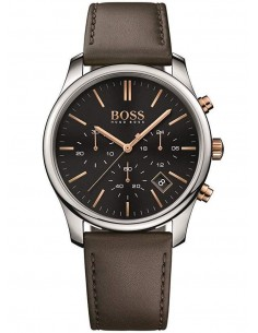 Chic Time | Montre Hugo Boss Chonographe Time One 1513448 Bracelet en cuir marron  | Prix : 254,15 €