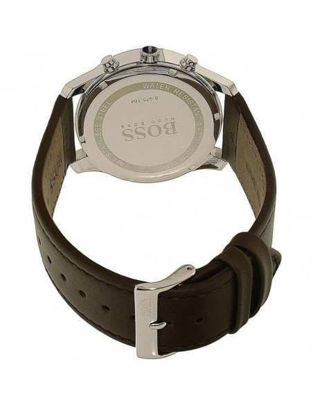 Chic Time   Montre Hugo Boss Chonographe Time One 1513448 Bracelet en cuir marron    Prix : 239,20€