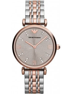 Chic Time | Montre Femme Armani Classic AR1840 Argent Index strassés  | Prix : 209,40€