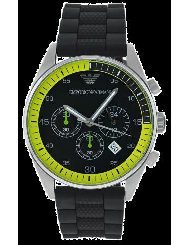 Chic Time | Montre Homme Emporio Armani AR5865 Noire Lunette bicolore  | Prix : 299,00€