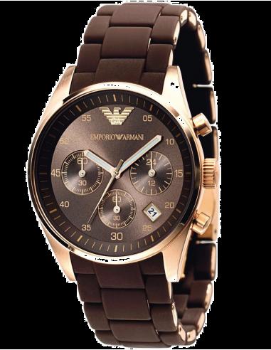 Chic Time | Montre Emporio Armani Sportivo AR5891 Chocolat  | Prix : 279,30€
