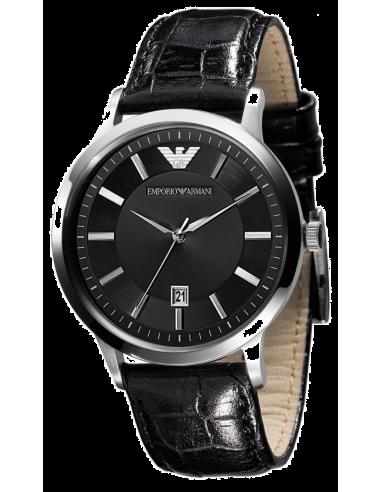 Chic Time | Montre Homme Emporio Armani AR2429 Bracelet cuir noir  | Prix : 215,00€