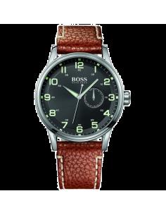 Chic Time | Montre Homme Hugo Boss Aeroliner 1512723 Bracelet en cuir marron  | Prix : 254,15€