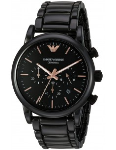 Chic Time | Montre Emporio Armani Luigi AR1509 Chronographe Céramique Noire  | Prix : 251,40€