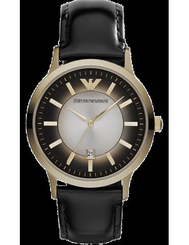 Chic Time | Montre Femme Emporio Armani AR2468 Bracelet en cuir noir  | Prix : 259,00€