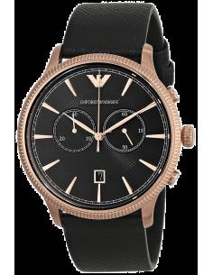 Chic Time | Montre Homme Emporio Armani Classic AR1792 Bracelet en cuir noir  | Prix : 261,75€