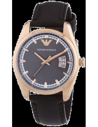 Chic Time | Montre Femme Emporio Armani Sportivo AR6024 Bracelet brun en cuir  | Prix : 188,80€