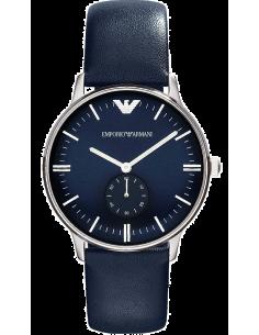 Chic Time | Montre Femme Emporio Armani Retro Gianni AR1647 Bracelet en cuir bleu  | Prix : 259,00€