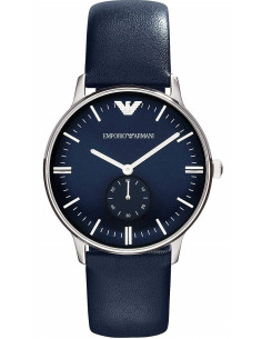 Chic Time | Montre Femme Emporio Armani Retro Gianni AR1647 Bracelet en cuir bleu  | Prix : 155,40€