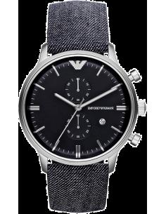Chic Time | Montre Homme Emporio Armani Classic Retro AR1690 Bracelet Jeans  | Prix : 279,20€