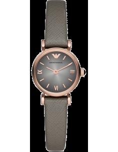 Chic Time | Montre Femme Emporio Armani New Retro AR1727 Bracelet fin en cuir gris  | Prix : 239,20€
