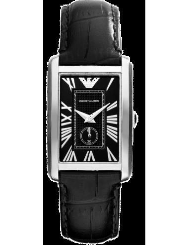 Chic Time | Montre Femme Emporio Armani AR1636 Classic Marco Cuir Noir  | Prix : 199,00€