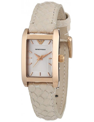 Chic Time | Montre Femme Armani Classic AR1655 Marron Boîtier rectangle  | Prix : 279,00 €