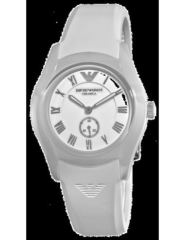 Chic Time | Montres de Prestige Femme Armani Ceramica AR1433 Blanc  | Prix : 303,20€