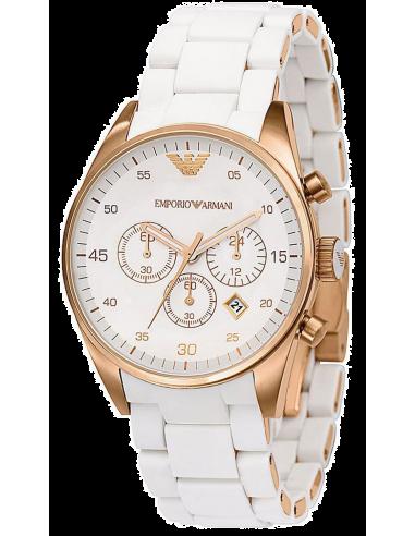 Chic Time | Montre Femme Emporio Armani Sport AR5920 blanche  | Prix : 319,20€