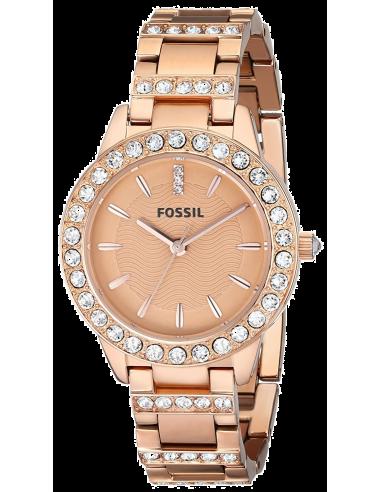 Chic Time   Montre Femme Fossil Jesse ES3020 Bracelet acier or rose    Prix : 118,15€