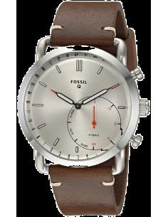 Chic Time | Montre Connectée Hybride Fossil Q Commuter FTW1150 bracelet cuir  | Prix : 174,00€