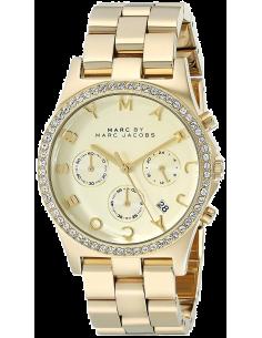 Chic Time   Montre Femme Marc by Marc Jacobs MBM3105 Chrono multifonction doré avec bracelet chaîne    Prix : 279,00€
