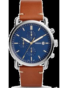Chic Time | Montre Homme Fossil The Commuter FS5401 Bracelet cuir marron  | Prix : 194,65€